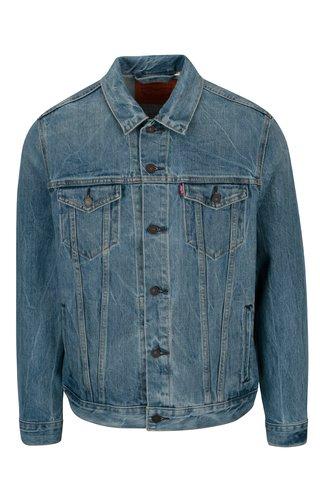 Jacheta albastra din denim cu aspect prespalat pentru barbati - Levi's®