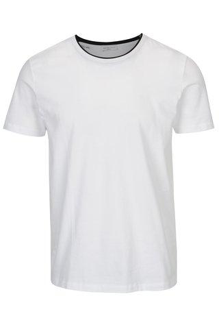 Bílé tričko s krátkým rukávem Selected Homme Movo
