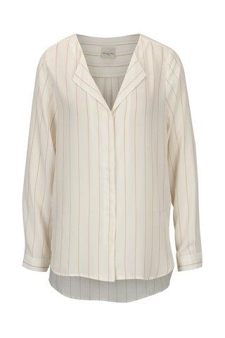 Krémová pruhovaná košile Selected Femme Luellek