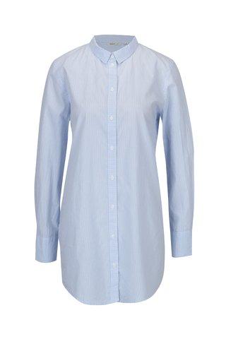 Bílo-modrá dlouhá pruhovaná košile ONLY Sapelin