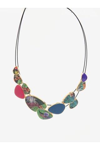 Colier dublu cu pietre decorative multicolore Desigual Prisscilla