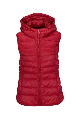 Červená prošívaná vesta ONLY Tahoe