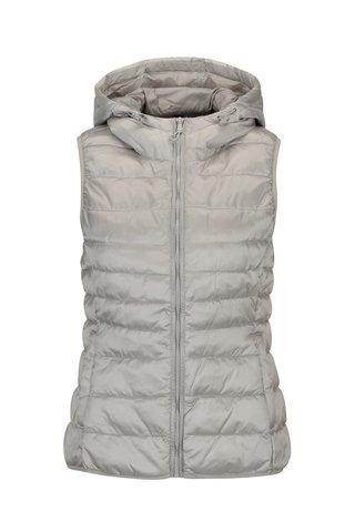 Prošívaná vesta ve stříbrné barvě ONLY Tahoe Shimmer