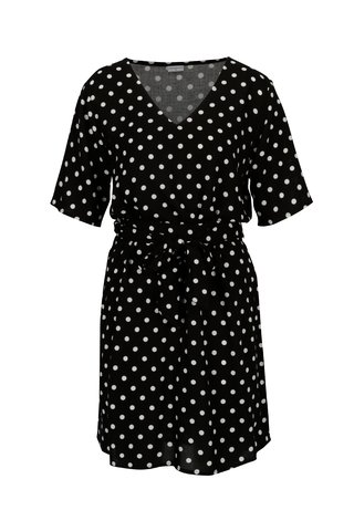 Rochie neagra cu buline si cordon  - Jacqueline de Yong Ann