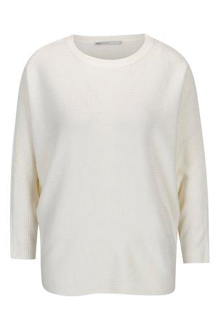Krémový žebrovaný svetr s netopýřími rukávy ONLY Siff