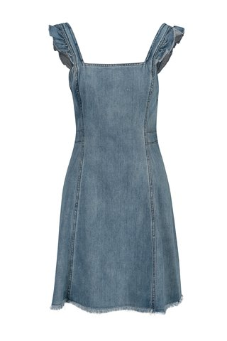 Světle modré džínové šaty s holými zády ONLY Rica