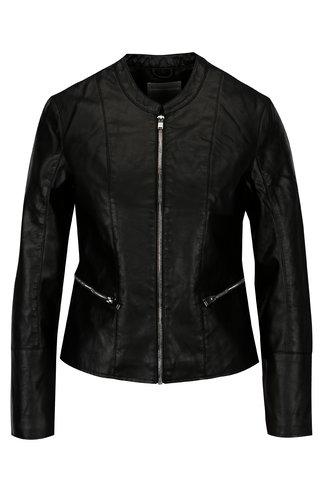 Jacheta neagra din piele sintetica Dorothy Perkins Petite