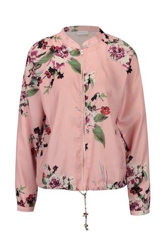 Jacheta bomber roz deschis cu print floral - VILA Melli