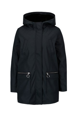 Jacheta parka bleumarin cu dublura detasabila din blana Dorothy Perkins