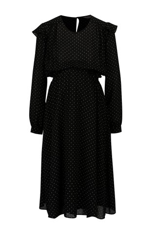 Rochie neagra cu buline si volane pentru femei insarcinate - Dorothy Perkins Maternity