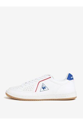 Tenisi alb&albastru din piele naturala pentru barbati - Le Coq Sportif Icons Lea Sport Gum
