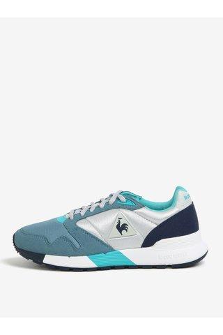 Pantofi sport gri&albastru pentru femei - Le Coq Sportif Omega Mesh