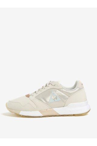 Pantofi sport bej pentru femei - Le Coq Sportif Omega Sparkly