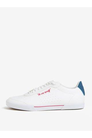 Tenisi albi cu broderie pentru femei - Le Coq Sportif Lisa Gum