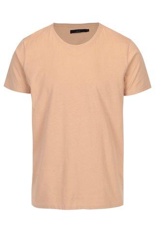 Béžové tričko s krátkým rukávem SUIT
