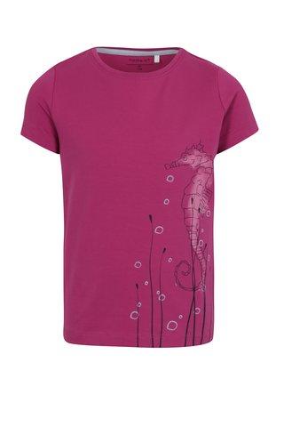 Růžové holčičí tričko s potiskem name it Vix