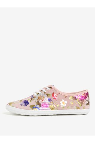 Tenisi roz cu print floral Tamaris