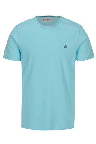 Tricou bleu cu logo brodat discret - Original Penguin