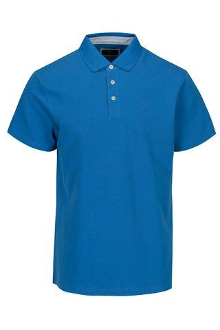 Tricou polo albastru cu broderie - Hackett London Swim