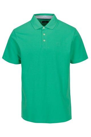 Tricou polo verde cu broderie - Hackett London Swim