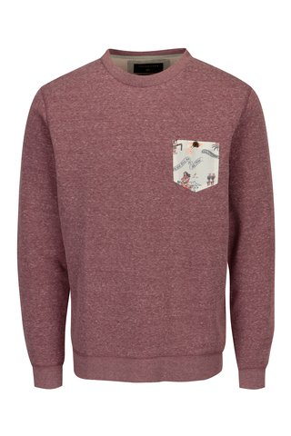 Bluza bordo cu print pe buzunar pentru barbati Quiksilver
