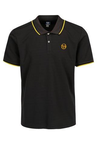 Tricou polo gri inchis cu print logo pentru barbati - Sergio Tacchini Reed