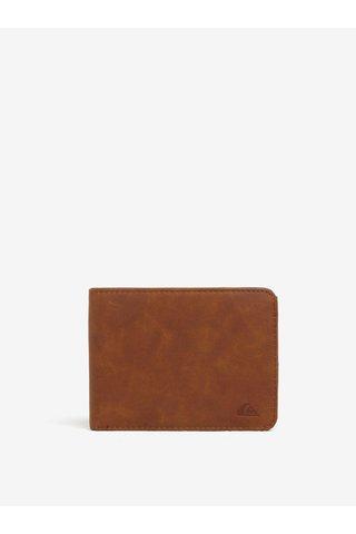 Portofel maro cu logo stantat pentru barbati Quiksilver