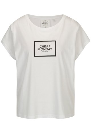 Tricou alb din bumbac organic - Cheap Monday