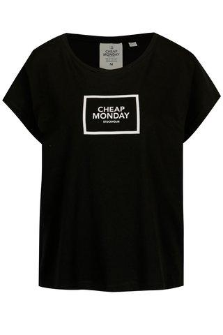 Tricou negru din bumbac organic cu print -  Cheap Monday
