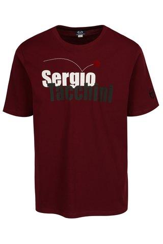 Tricou bordo cu print logo Sergio Tacchini Leto