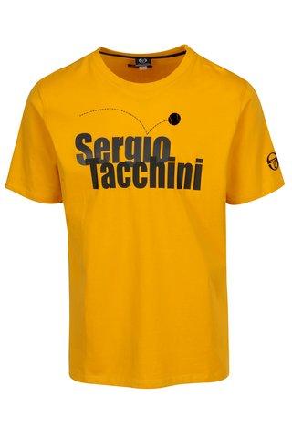 Tricou galben cu print logo Sergio Tacchini Leto