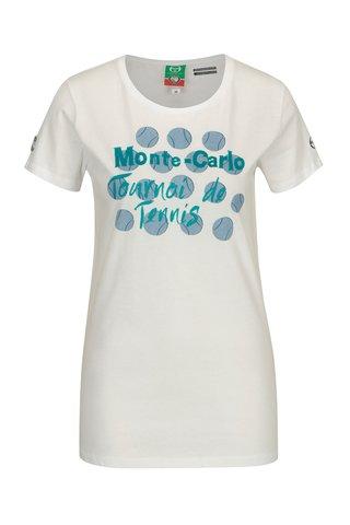 Tricou alb cu print pentru femei - Sergio Tacchini Ondina