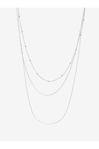 Lantisor din 3 piese argintiu - Pieces Jannice