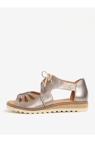 Sandale argintii din piele - Pikolinos Alcudia