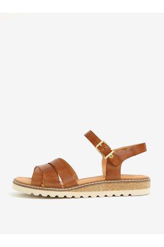 Hnědé kožené sandály Pikolinos Mykonos