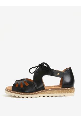 Černé kožené sandály Pikolinos Alcudia