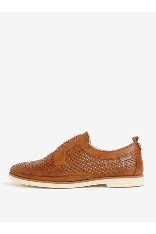 Pantofi maro din piele cu model perforat - Pikolinos Santorini