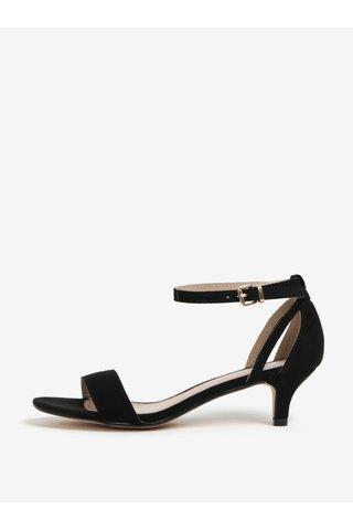 Sandale cu toc kitten negre Dorothy Perkins