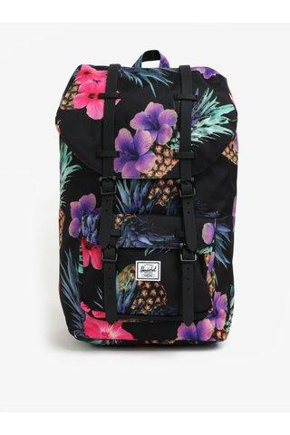 Růžovo-černý vzorovaný batoh Herschel Little America 25 l