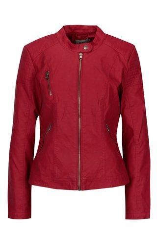 Jacheta scurta rosie cu fermoar ONLY Steady