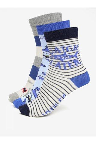 Sada tří párů klučičích ponožek s motivem žraloka Tom Joule Brilliant
