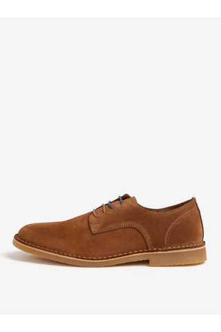 Pantofi din piele intoarsa maro deschis - Selected Homme Royce