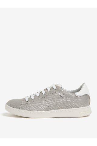 Pantofi sport gri cu model piele de sarpe pentru femei Geox Jaysen