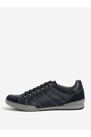 Pantofi sport bleumarin din piele pentru barbati - Geox Kristof