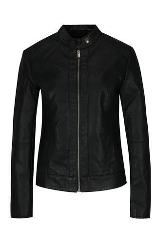 Jacheta neagra din piele sintetica Jacqueline de Yong Dallas