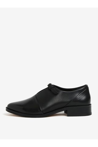 Pantofi negri din piele cu decupaj si catarama pentru femei - Royal RepubliQ