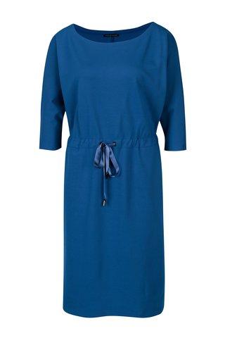 Rochie albastra cu funda in talie Pietro Filipi