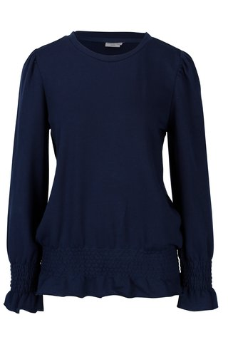 Bluza bleumarin cu terminatii elastice Jacqueline de Yong Neel