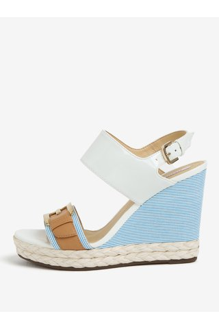 Sandale alb & bleu cu platforma - Geox Janira