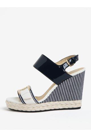 Sandale alb & bleumarin cu platforma - Geox Janira